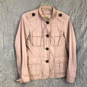 Casual jacket. Safari styling, 100% Cotton, Size S